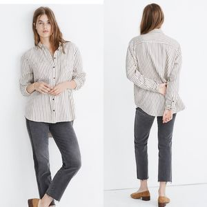 Madewell Flannel Sunday Shirt Creeland Stripe XS